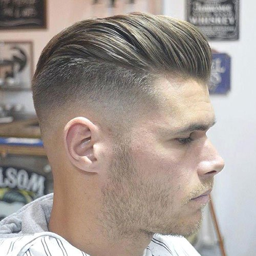 Slicked Back Hair Fade