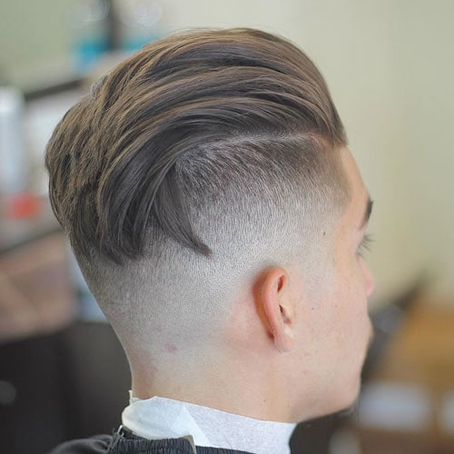 Slicked Back Taper Fade Undercut