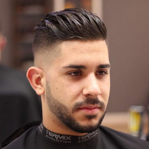 Swept Back Hair Undercut