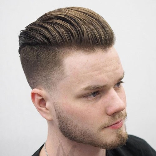 Textured Comb Back Undercut Fade