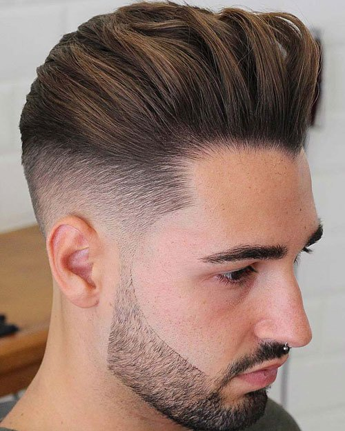 Textured Combed Back Hair