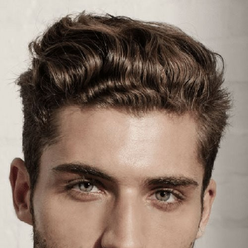 Thick Textured Wavy Hairstyles For Men