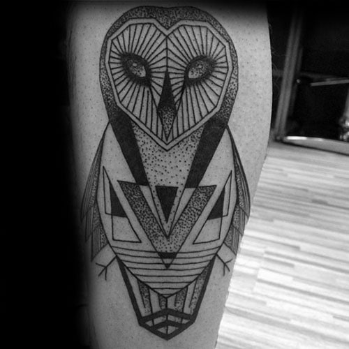 Unique Geometric Owl Tattoo Designs