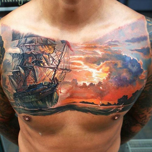 Upper Chest Tattoo