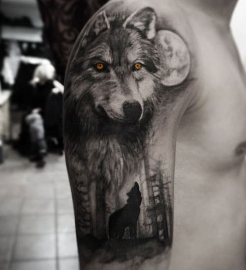 Wolf Half Sleeve Tattoo
