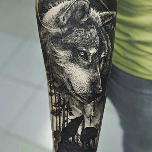 Wolf Pack Tattoo