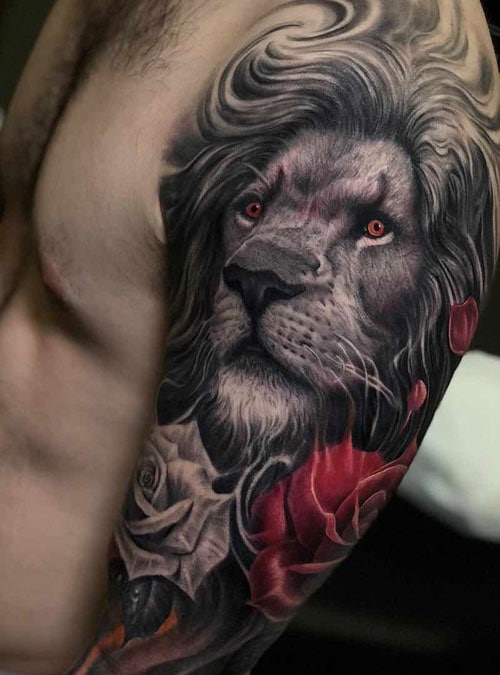 9afc62a3a 125 Best Lion Tattoos For Men: Cool Designs + Ideas (2019 Guide)