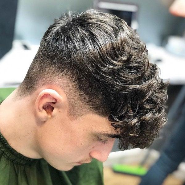Hasil carian imej untuk curly hair taper fade