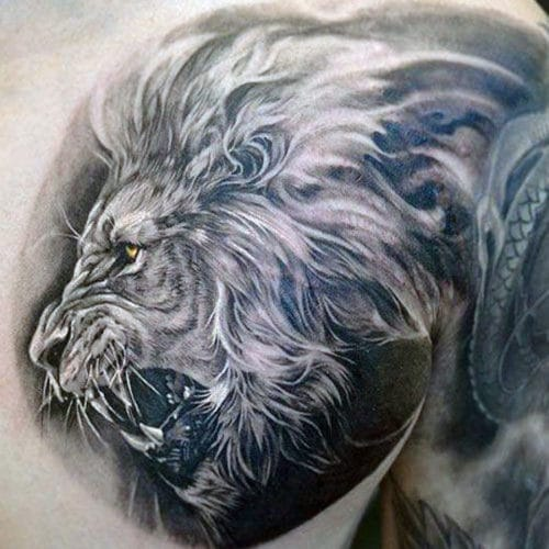 Fierce Lion Tattoo