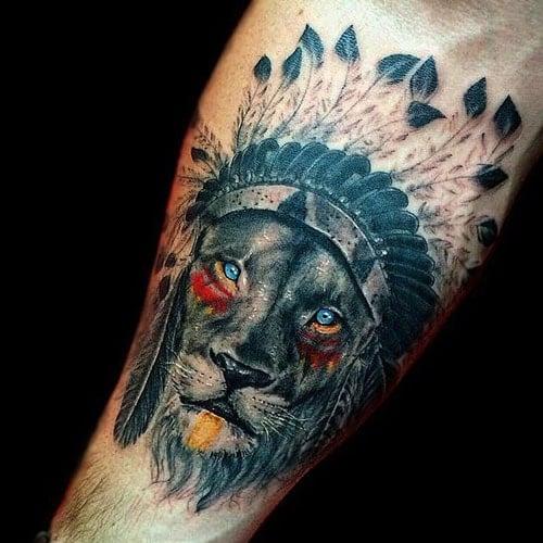 Indian Lion Tattoo