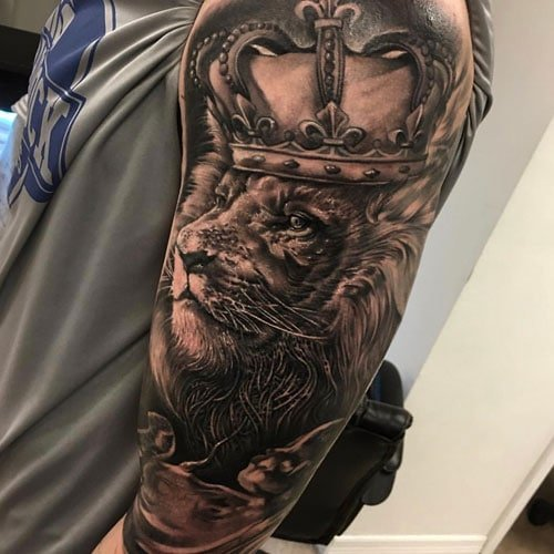 King Lion Tattoo For Men