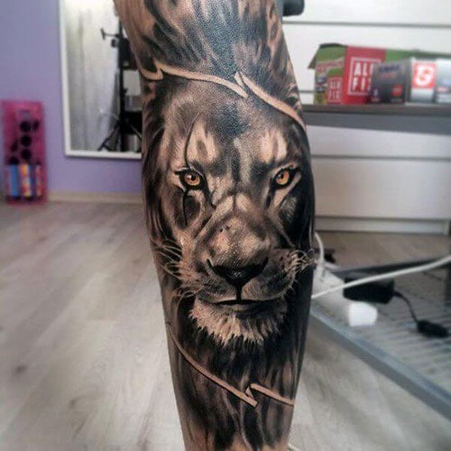 Lion Calf Tattoo