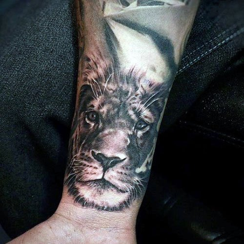 Lion Wrist Tattoo
