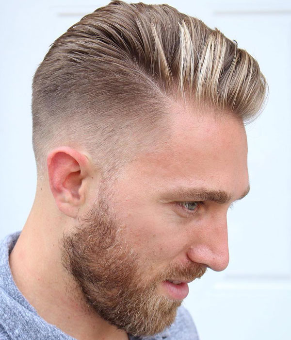 Low Drop Fade Comb Over