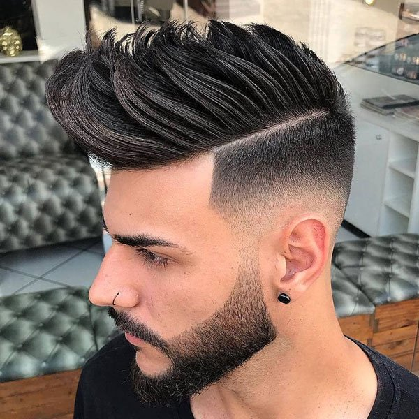 Low Fade Faux Hawk