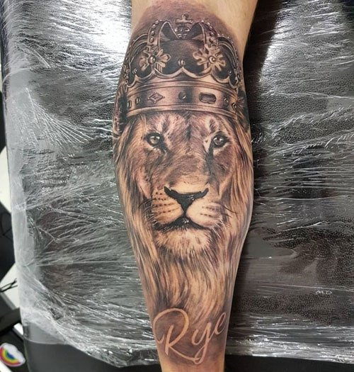 Realistic Lion Tattoo Designs