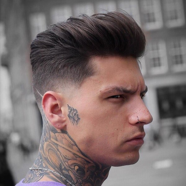Short Sides, Long Top Hairstyle - Thick Textured Medium Hair + Low Fade Haircut