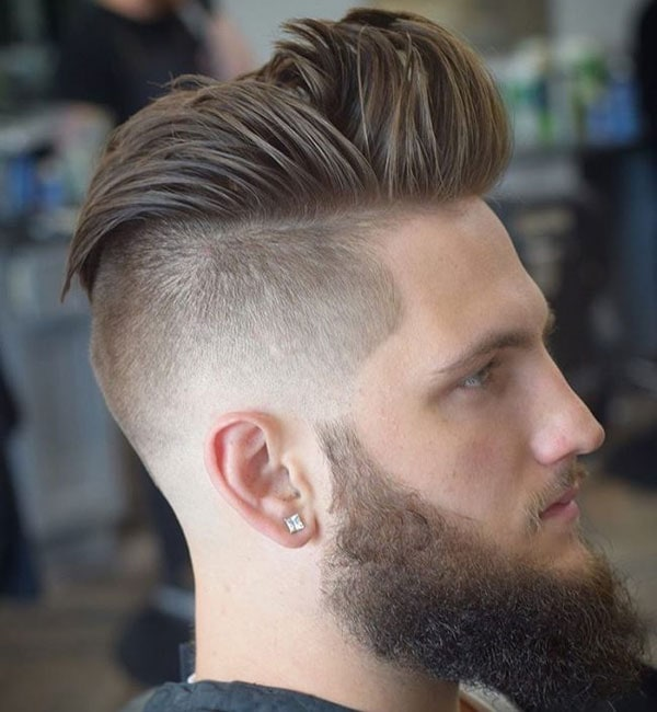 Short Taper Fade + Long Hair on Top