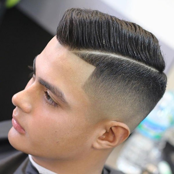 Taper Fade Comb Over