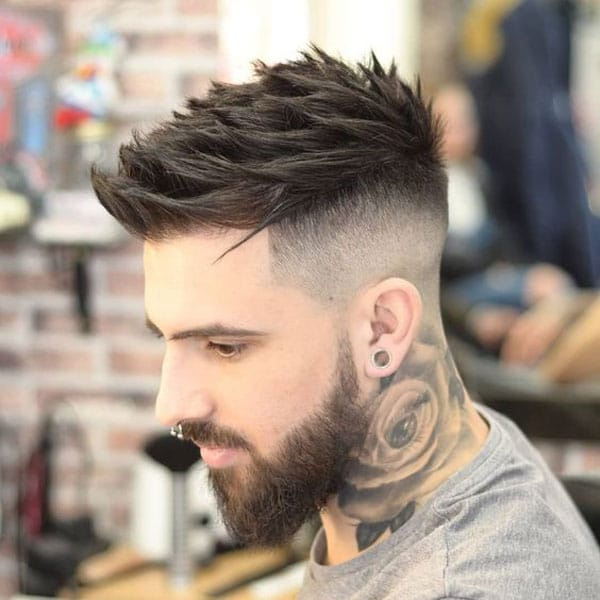 Thick Spiky Hair Fade