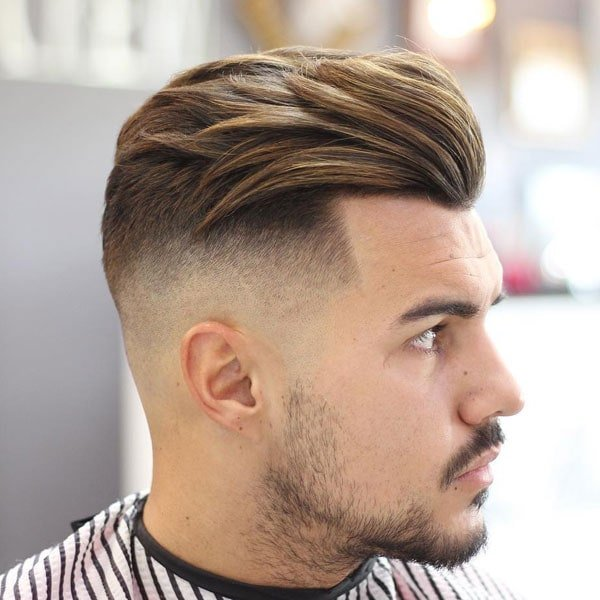 Thick Swept Back + High Fade + Shape Up