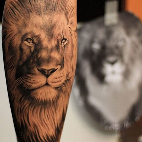 Very Realistic Lion Tattoo Ideas