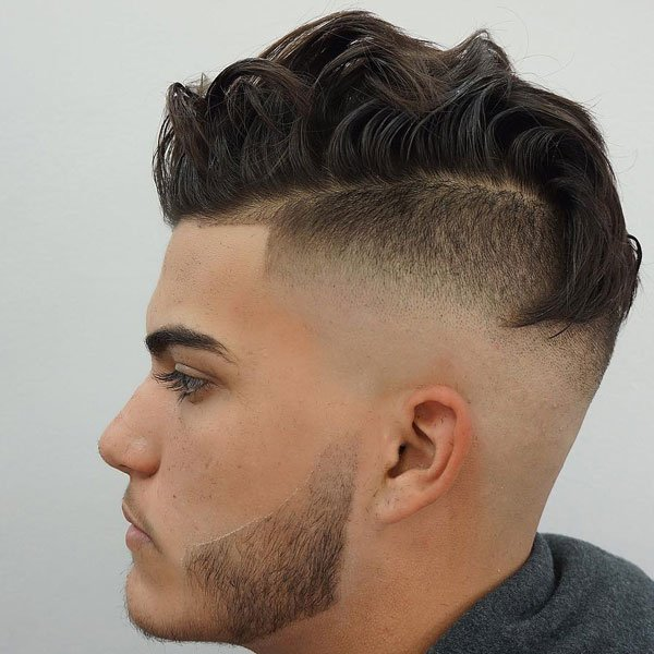 Wavy Comb Over + Undercut Fade