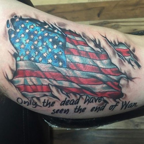 American Flag Arm Tattoo