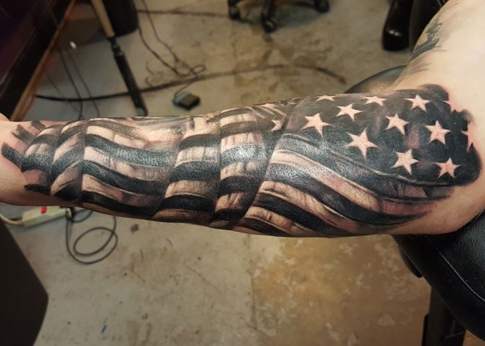 American Flag Patriotic Tattoos