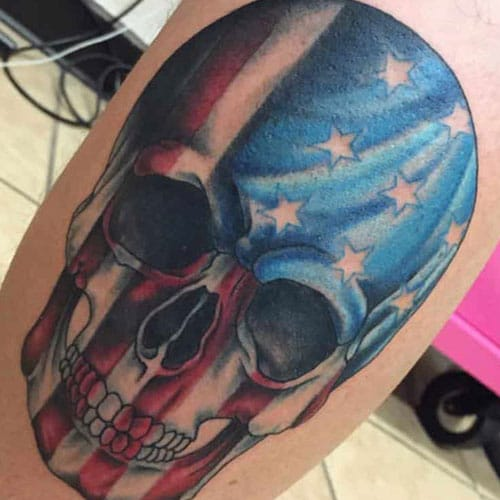 Badass American Flag Tattoos For Guys