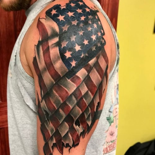 101 Best American Flag Tattoos Patriotic Designs Ideas