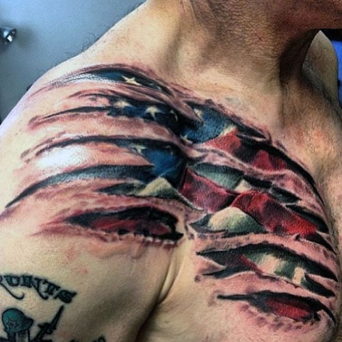 Best American Flag Tattoo Designs