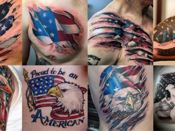 Best American Flag Tattoos For Men