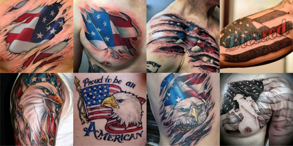 Best American Flag Tattoos For Men