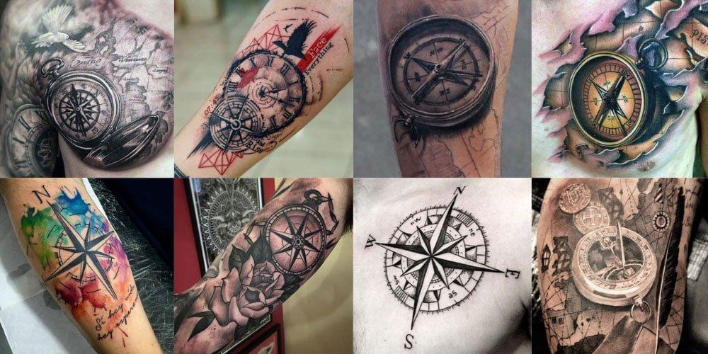 125 Best Compass Tattoos For Men: Cool Designs + Ideas (2019 Guide)