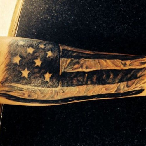 Black American Flag Tattoo
