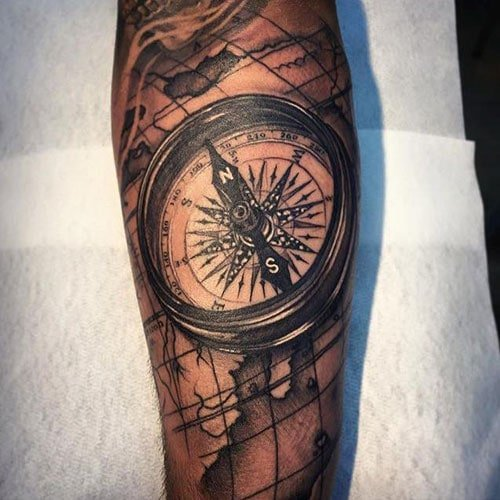 Compass Tattoo Sleeve