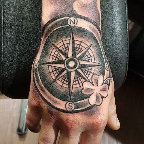 Cool Hand Compass Tattoos