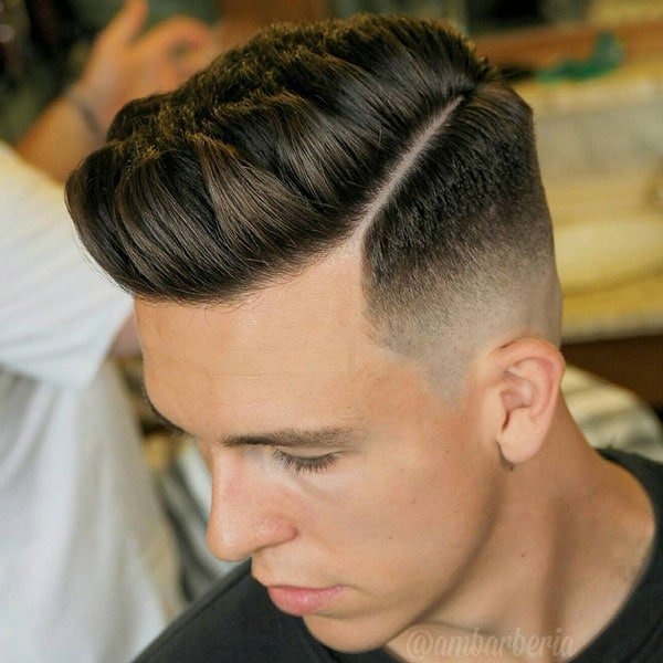 High Fade with Part