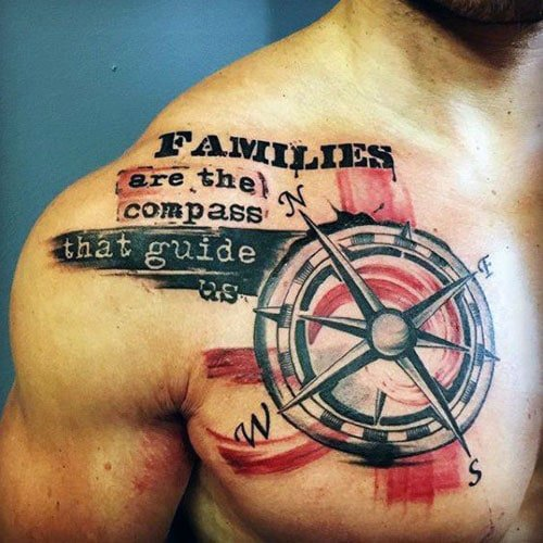 Men's Compass Tattoo