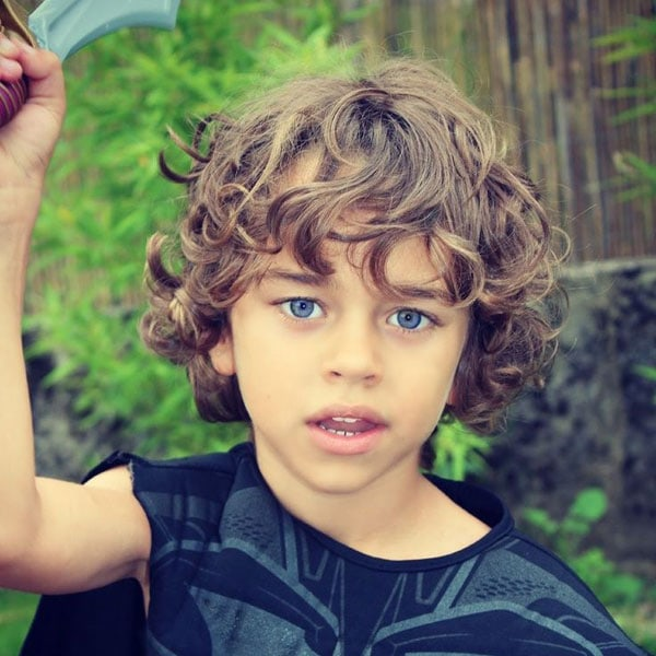 Messy Long Hairstyle For Little Boys