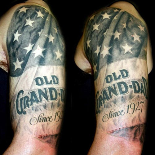 Realistic American Flag Tattoo