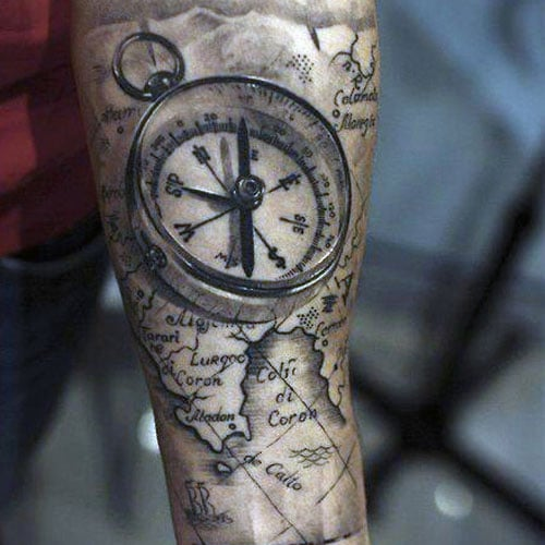 Sailor Compass Tattoo