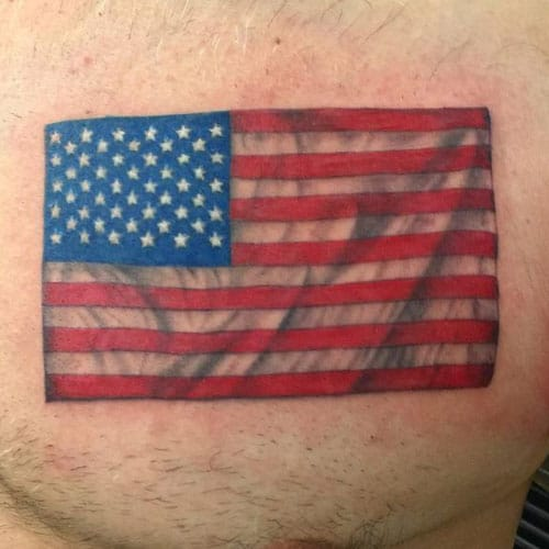 Simple American Flag Tattoo