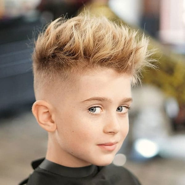 Textured Spiky Hair Fade