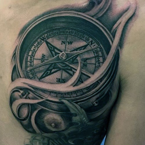 Traditional Compass Tattoo
