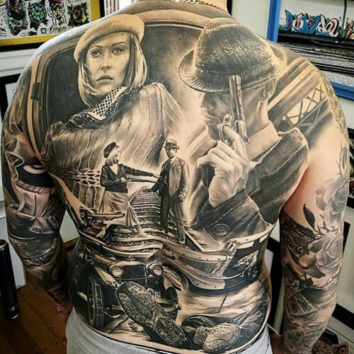 Amazing Full Back Tattoo Designs For Guys