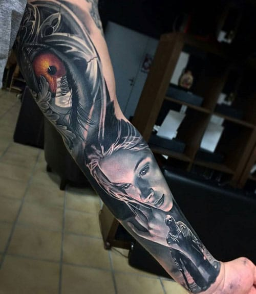 Amazing Full Inner Arm Tattoo