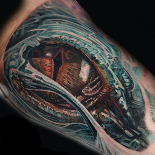 Amazing Inner Bicep Tattoo Designs For Guys