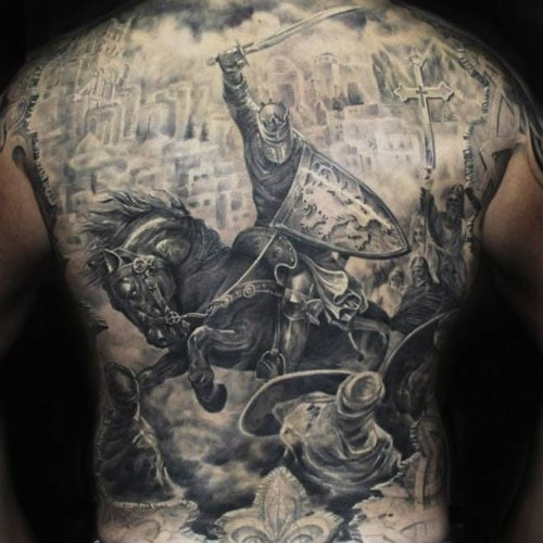 Badass Full Back Tattoos For Men